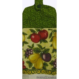 apples pears plums grapes oven door towel