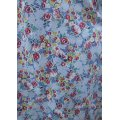 vintage blue red flowers apron