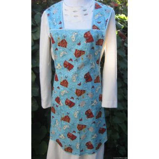 country animals vintage apron