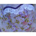 purple floral vintage apron plus size