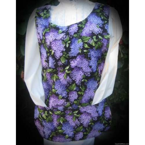 lilac purple dragonfly cobbler apron lg xl