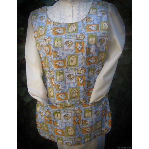 birdhouses sunflowers bees cobbler apron lg xl