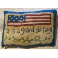 grand old flag americana pillow