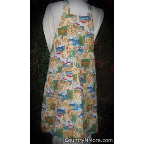 sea reversible bbq apron plus size