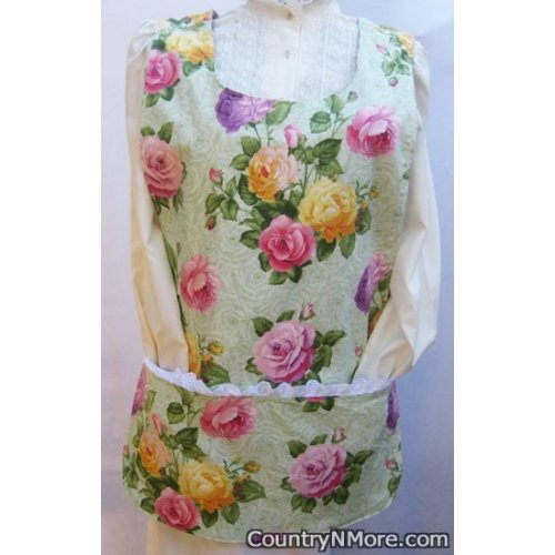 gorgeous rose cobbler apron lg xl