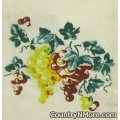 vintage grapes vine kitchen tea towel
