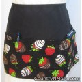 chocolate covered strawberries waitress hostess baking apron