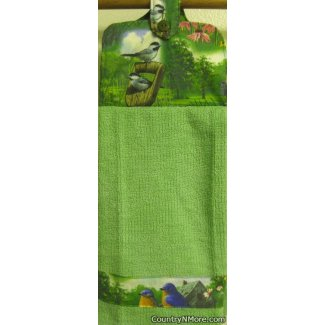 bird garden 2 oven door towel