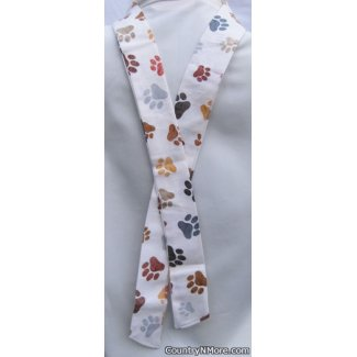 paw print neck cooler cool tie