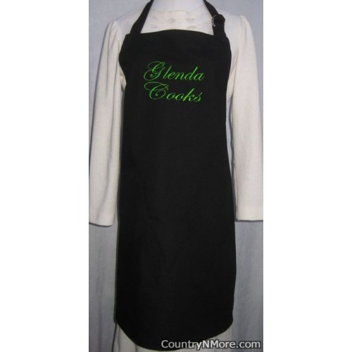 custom embroidered bbq apron glenda cooks