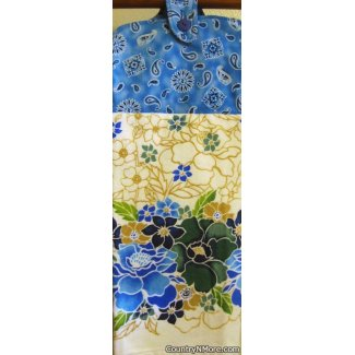 beautiful flowers hanging oven door towel