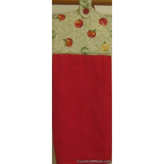 apple variety oven door kitchen tea towel red