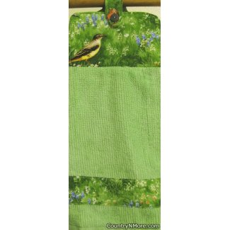 bird garden 3 oven door towel