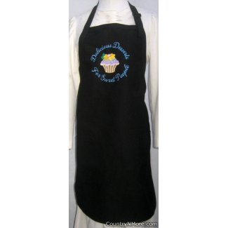 embroidered cupcake delicious desserts sweet people bbq apron