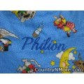 personalized embroidered mother goose bib pacifier holder