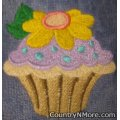 embroidered cupcake oven door towel