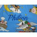 personalized embroidered burp cloth mother goose