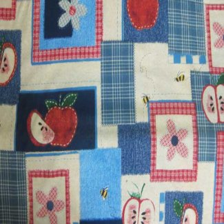 apple patchwork fabric
