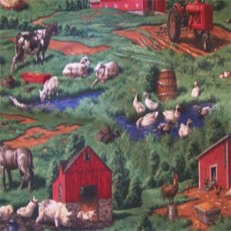 animals farm fabric
