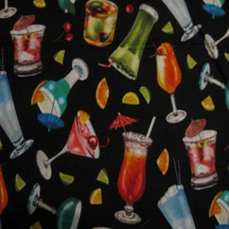 cocktail drink fabric