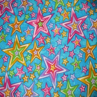 colorful stars fabric quilt