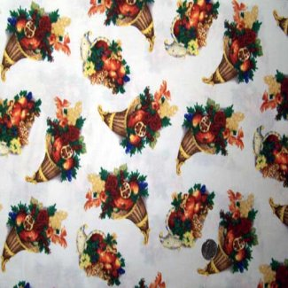 cornucopia thanksgiving fabric