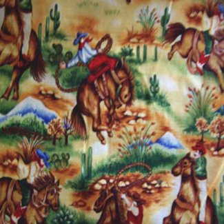 cowboys cowgirls fabric