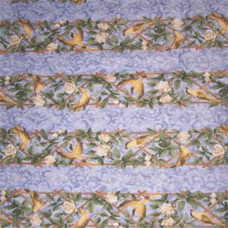 bird flower stripe fabric