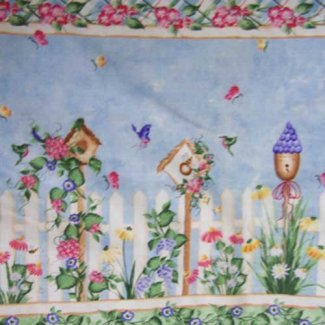 double border birdhouse fabric