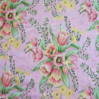 tulip bouquet fabric