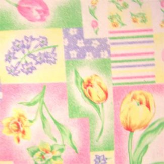 tulips daffodil fabric