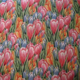 easter crocus fabric