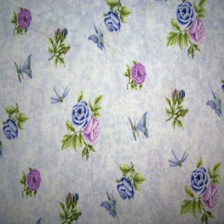 purple roses small fabric