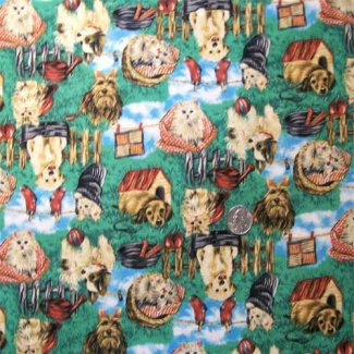 kittens puppies fabric
