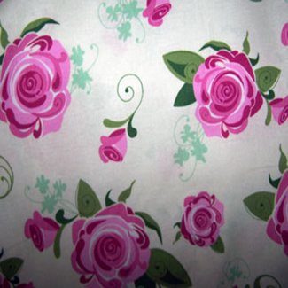 gorgeous pink roses fabric