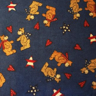 patriotic bears fabric