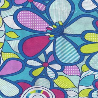 retro flower fabric