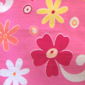 retro flower twill pink fabric