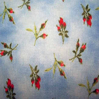 rose bud fabric