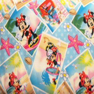 minnie mouse summer snapshots fabric