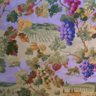 napa valley wine fabric