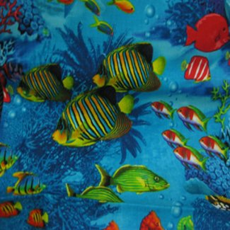 colorful fish sea life fabric