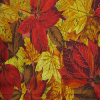 fall leaves fabric