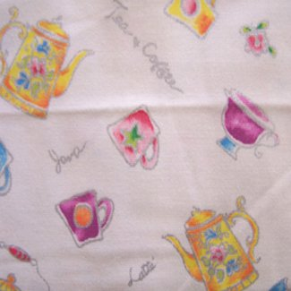 teapot coffee twill fabric