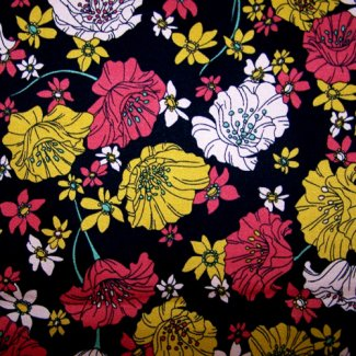 vintage flowers heavy weight cotton 50 inches wide fabric