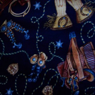 wild west cowboy navy blue fabric