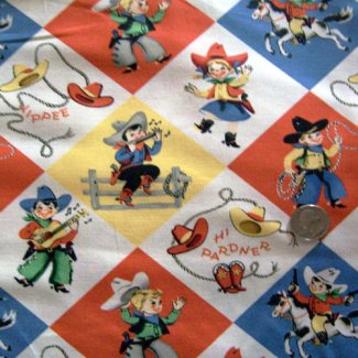 young cowboy fabric