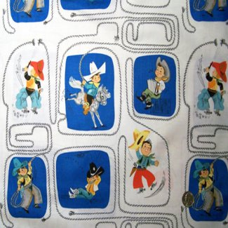young cowboys fabric