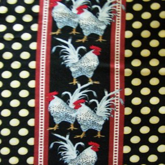 chicken hen egg stripe fabric