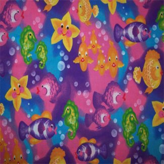 colorful sea life donna dewberry springs fabric